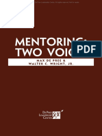 Mentoring on two voices