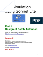 Electromagnetic Simulation using Sonnet Lite