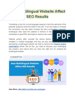 How Multilingual Website Affect SEO Results