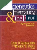 Hermenéutica e inerrancia Bíblica