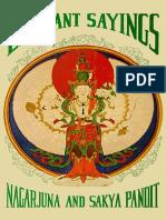 Sa skya legs bshad etc. (Tibetan translation series) Nagarjuna, Sakya Pandita, T. Tulku - Elegant Sayings-Dharma Publishing (1977).pdf