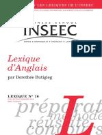16 Lexique d Anglais Dorothee Butigieg