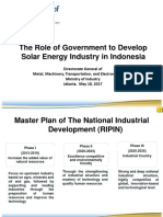 The Role of GOvernment to Develop Solar Energy Industry in Indonesia - Ministry of Industry