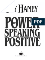 The Power of Speaking Positive