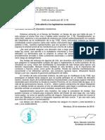 Carta Abierta de Colombo a Los Legisladores Mendocinos