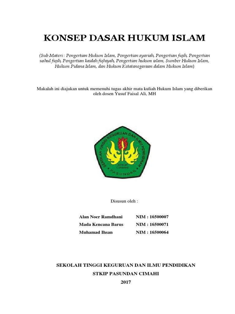 368196915 Makalah Hukum Islam Pdf