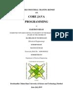 Core Java Programming Report