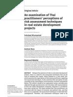 Risk Real Estate Thai