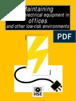 M a i n t a i n i n g Portable Electrical Equipment