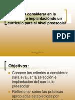 6. Planificacion y diseño del curriculo preescolar