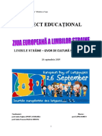 proiect educational Ziua Europeana A Limbilor Straine