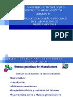 Diseño y Procesos de Elaboraciön de Medicamentos