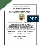 Practicas Preprofesionales en La Obra a Ejecutarse en La Agencia Agraria Lircay
