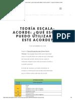 Teoría Escala-acorde_ ¿qué escala puedo utilizar en este acorde_ — Clases de Guitarra Online