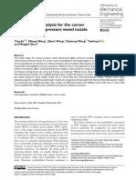 Weibull Stress Analysis for the Corner Crack in Re
