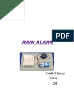Rain alarm investigatory project