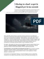 Soluzioni Di Backup in Cloud Scopri La Proposta Di Maggioli Per La Tua Azienda