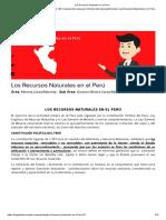 Los Recursos Naturales en el Perú