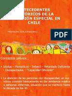 Historia de La Educacion Especial y NEE