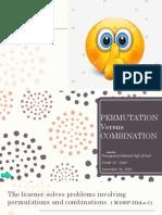 Permutation vs Combination