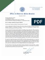 Governor Sisolak Refugee Consent