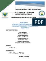 GRupo 1 Facultad recaudadora y Adm. Central