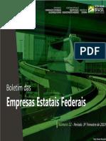 Boletim Das Empresas Estatais Federais 12a Edicao