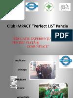 Proiect Al Clubului IMPACT Perfect LIS