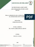 IMPORTANCIA DE LA LITERATURA H