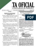 Gaceta Oficial N° 41.780 Sumario