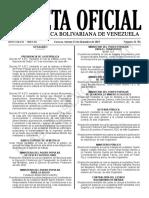 Gaceta Oficial N° 41.781 Sumario