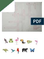crucigrama animales colombia
