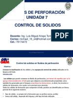 UNIDAD 7 Control de solidos