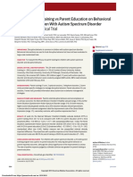 Bearss Et Al., 2015 Effect of Parent Training vs Parent Education on Behavioral Problems in Children With Autism Spectrum Disorder