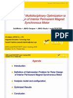 Application of multidisciplinary optimization to rotor design of interior permanent magnet synchronous motor