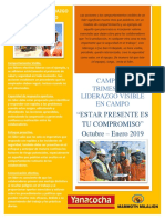 LIDERAZGO VISIBLE EN CAMPO - AFICHE MAMMOTH
