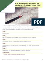 Cómo Insertar Un Símbolo de Marca de Verificación Mediante Código en Word 2007