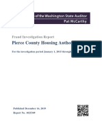 Pierce County Housing Authority Audit