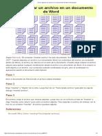 Cómo Adjuntar Un Archivo en Un Documento de Word