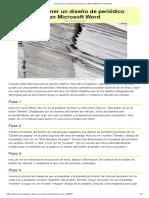 Cómo Poner Un Diseño de Periódico en Microsoft Word
