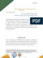 DIFERENCIA ENTRE INTRODUCCIÓN Y PLANTEAMIENTO DEL PROBLEMA