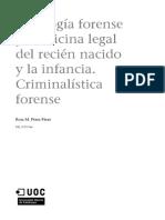 Medicina Legal y Forense_Módulo 4_Sexología Forense y Medicina Legal Del Recién Nacido y La Infancia. Criminalística Forense