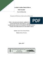 educacion y poder en Ecuador
