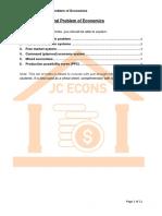 Micro 1 - Central Problem of Economics