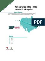 Perfil Demográfico 2016 - 2020 Comuna 15_Guayabal