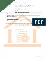 Macro 10 - Macroeconomic Problems & Policies