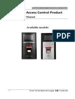 Fingerprint Access Control Installation Manual(M-F131)