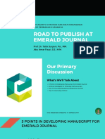 Road to Publish at Emerald Journal