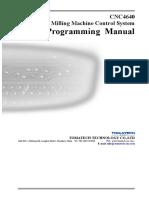 CNC4640 V2.0 programming