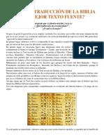 LA MEJOR TRADUCCIÓN DE LA BIBLIA O EL MEJOR TEXTO FUENTE.pdf
